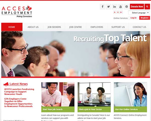 Recent web design and web consulting projects for Design consultant jobs toronto