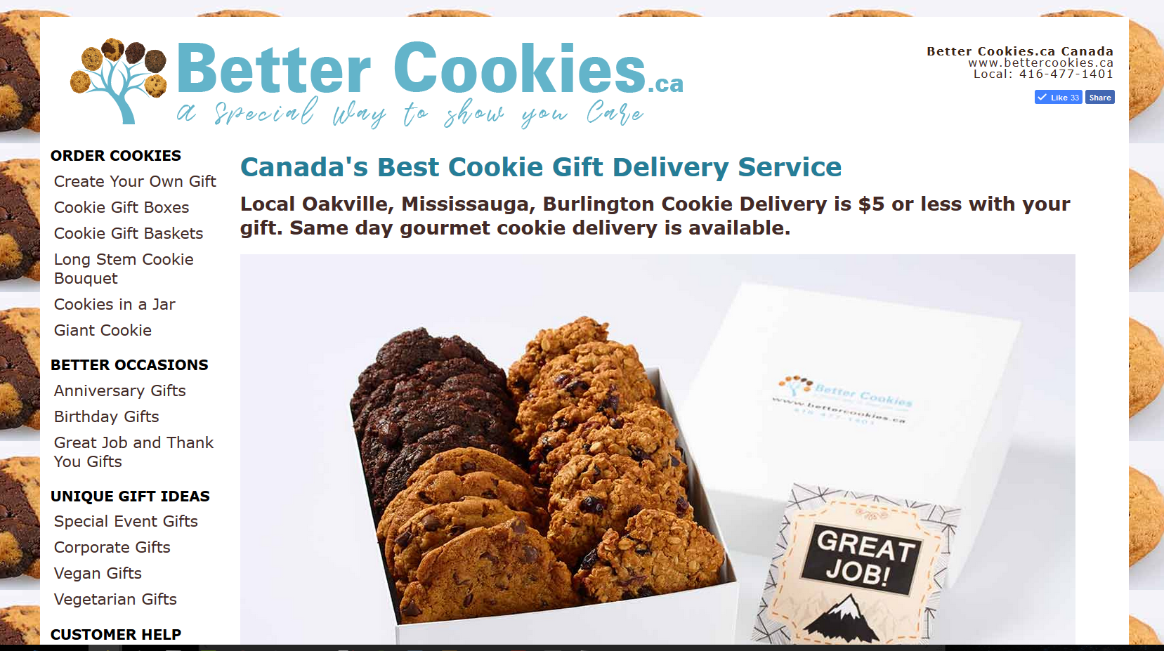 Better Cookies - Cookie Delivery in Canada